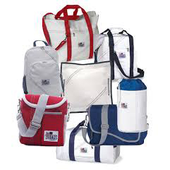 image of sail bags. Also used to illustrate apparel and accents subcategory